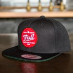 Black Fall Hat with Circle Red Patch