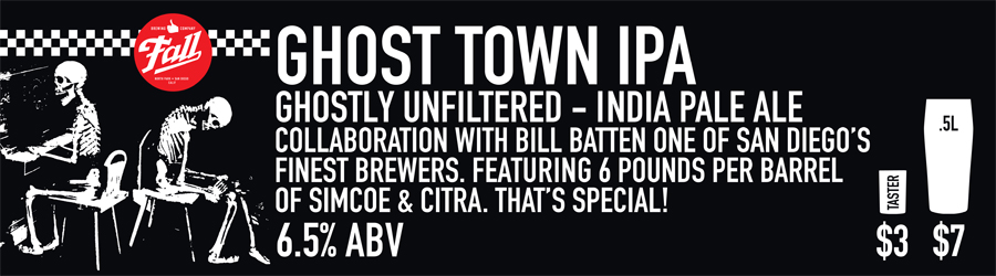 Ghost Town IPA Beer Sign