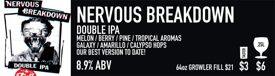 Nervous Breakdown Beer Sign