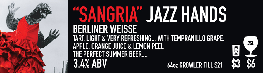Sangria Jazz Hands Beer Sign