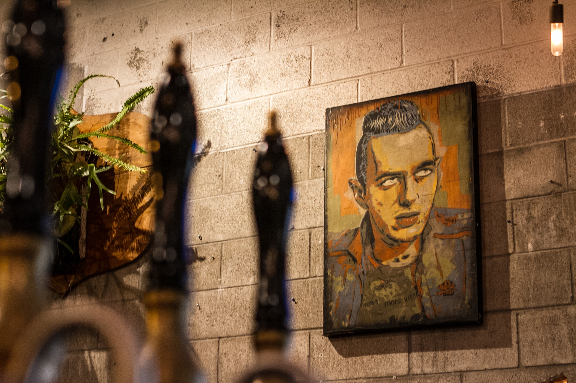 Joe Strummer Painting on wall