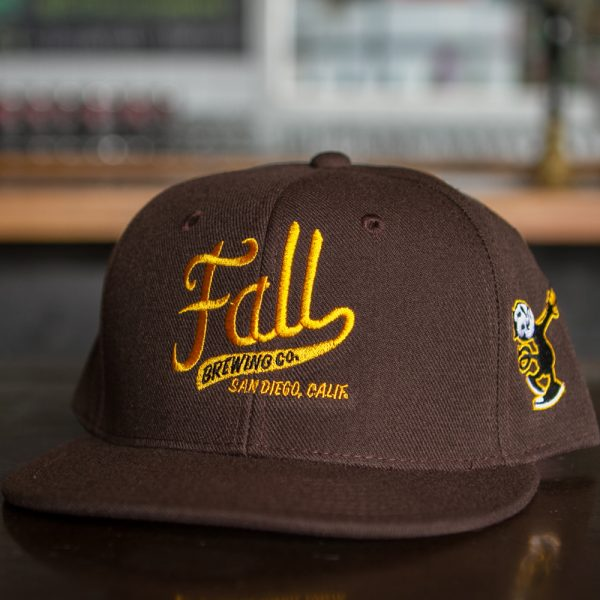 Brown Fall Brewing Sports Ball Hat