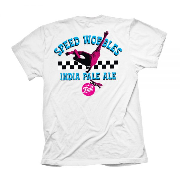 White Speed Wobbles Shirt Back