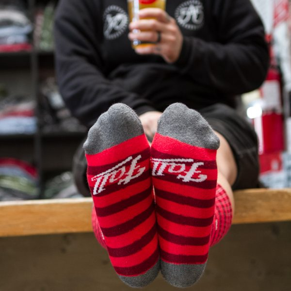 Rise Above drinking socks bottom view