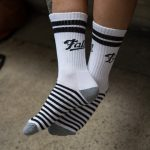 Black and White striped drinking socks