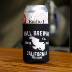 Fall Brewing Koozie with Radio Silence Can inside