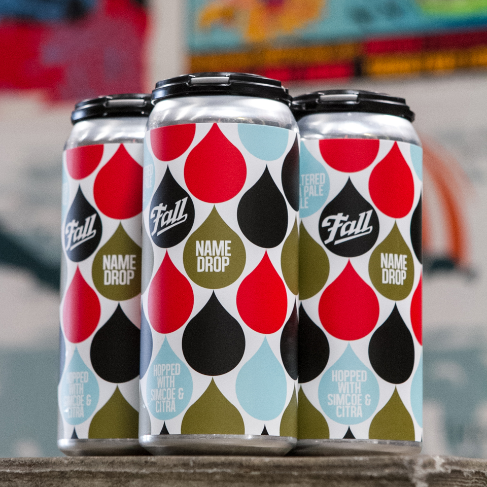4 Pack of Name Drop IPA cans by Fall Brewing Company