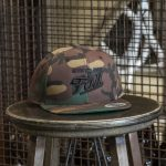 Camo embroidered Fall Brewing Company script hat
