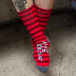 Rise Above drinking socks front view