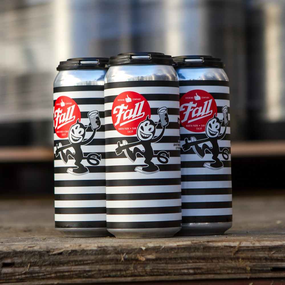 4-Pack of Fall Brewing Company Devil Cat IPA sitting on loading dock