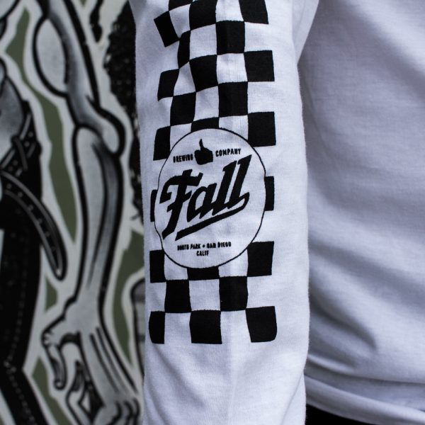 Checkers Long Sleeve - White Sleeve Detail