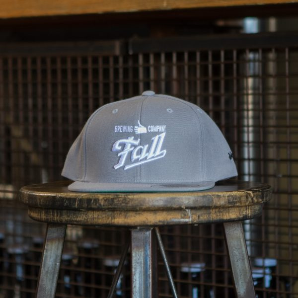 Grey embroidered Fall Brewing Company hat